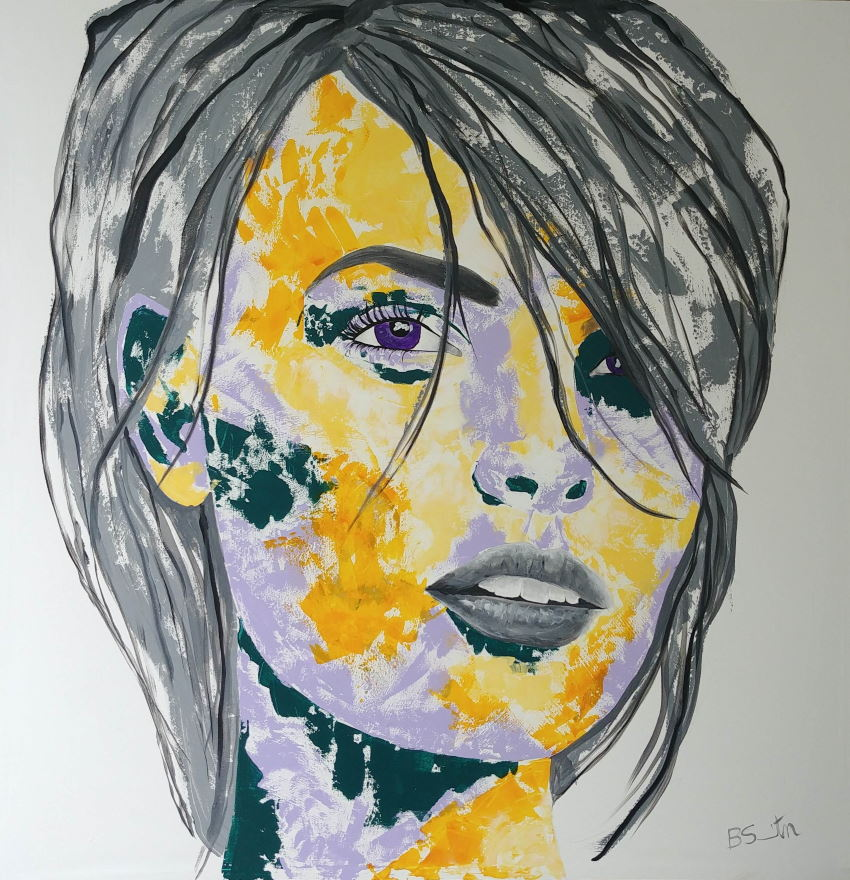 Grey Yellow Face small